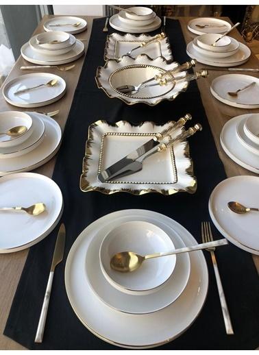 ROSSEV Yemek Takımı Modern Gold 56 Parça 6 Kişilik Renkli